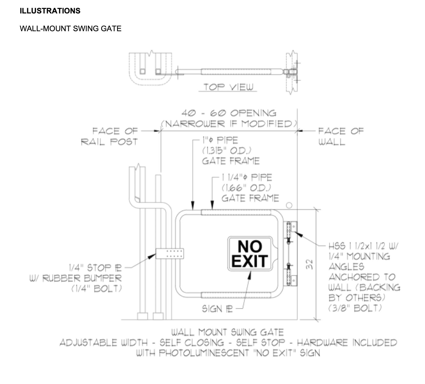 Egress gate illustration